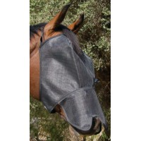 Fly Mask - UV Block-Out Extended Nose BLACK