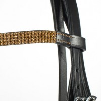 Hanoverian Bridle - Bling Browband COB