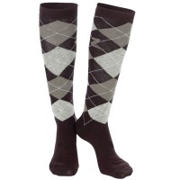 Knee Socks Argyle BROWN