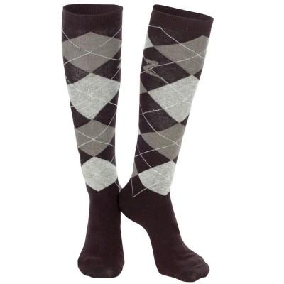 Knee Socks Argyle BROWN