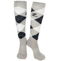 Knee Socks Argyle GREY