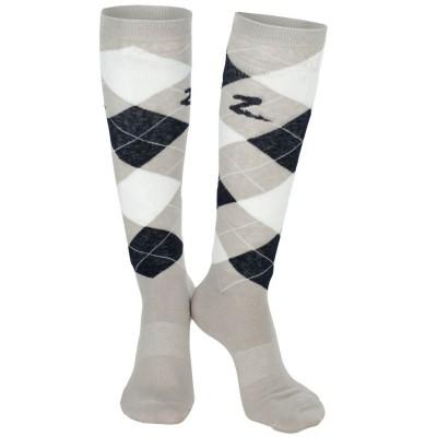 Knee Socks Argyle GREY