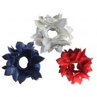 Hair Scrunchie - Rose with Crystals