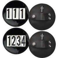 Bridle Number Patent Leather 3 Digit Round Pair