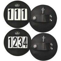 Bridle Number Leather 3 Digit Round Pair