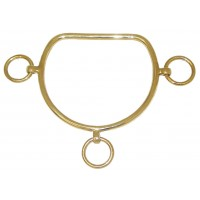 Anti-Rearing Bit Straight Mouth - Brass