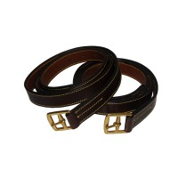 "Stirrup Leathers - Stock Stitched Brass 1 1/4"" x 58"""