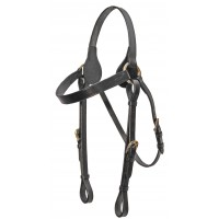 Barcoo Bridle Head - Brass Stamped Horseshoe
