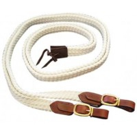 Reins - Cotton RideRite Brass Fittings