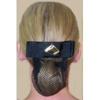 Hair Net Show Bow - Horsehead Black