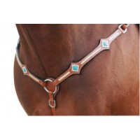 Western Breastplate Turquoise Stones