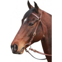 Barcoo Bridle - Stiched w/ Brass