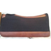 Western Saddle Pad - Felt w/ Hand Tooled Leather