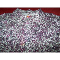 Shirt - Womens Outback L/S Purple Paisley