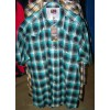 Shirt - Mens Outback Check SS Green/Black/White