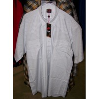 Shirt - Mens Outback Check SS White/Red Pin