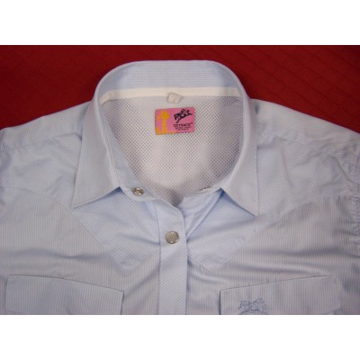 Shirt - Womens Outback S/S Pale Blue
