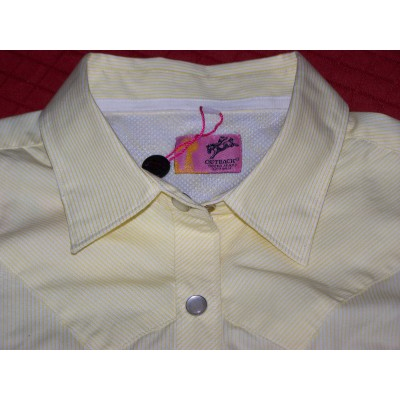 Shirt - Womens Outback S/S Pale Yellow