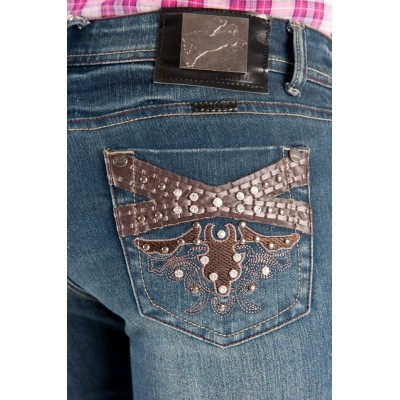 Jeans - Ladies Outback Wild Child Bling 2