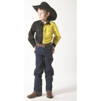 Shirt - Kids Outback 2 Tone BLACK/YELLOW