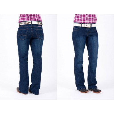 Jeans - Ladies Outback Pink Filly Comfort Waist