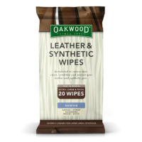 Oakwood Leather & Synthetic Wipes 20 Pack