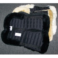 Half Numnah Sheepskin BLACK