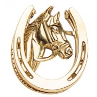 Doorknocker - Brass Horse Head Profile