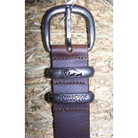 Belt - TC Leather Silver Twin Keeper
